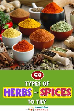 A guide to all the different types of herbs and spices. What are they? How do they taste? And how can we use them? This guide will help you to add a flavor boost to your cooking! #herbs #spices #cooking