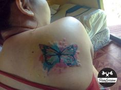 watercoloured butterfly tattoo #PainSessionTattoo Word Tattoos, Black And Grey Tattoos, I Tattoo, Tattoo Artists, Watercolor Tattoo, Butterfly, Photos, Pictures, Black And Gray Tattoos