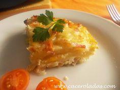 Caceroladas: Patatas gratinadas con bacon y queso