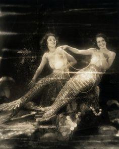 Vintage Mermaids! #mermaids