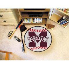 Mississippi State Bulldogs NCAA Baseball Round Floor Mat (29)