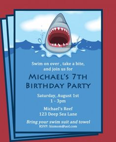 82 best boy birthday invitation ideas images on pinterest shark invitation perfect for a boys pool party br br this invitation can be personalized to fit your child and party this listing includes an emailed x filmwisefo