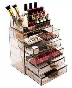 Black Makeup Storage, Makeup Jewellery Storage, Makeup Storage Case, Jewelry Storage, Makeup Display, Jewelry Box, Organizer Makeup, Makeup Organization, Storage Organizers