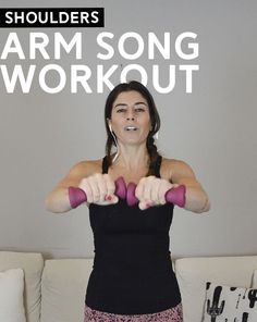 Arm Song Workout (Spin Class Arms) - light weights, high reps, all to the beat of the music! #fitness #workout #exercise
