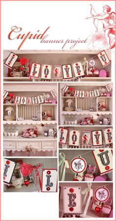 Cupid banner project for valentines day #party #decor