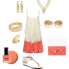 Cute summer outfit...too much jewelry for me with this...but the top is super cute.