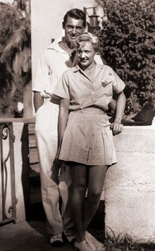 Cary Grant and wife, Virginia Cherrill in 1934