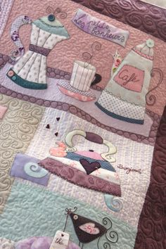 """ Sweet Mystery Quilt "" Twinkle Designs R&R Applique Templates, Applique Designs, Wool Applique, Applique Quilts, Patch Quilt, Quilt Blocks, Quilting Projects, Sewing Projects, Sewing Appliques"