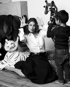 Doutzen Kroes & Family By Paul Bellaart For Vogue Netherlands March2015 - 3 Sensual Fashion Editorials | Art Exhibits - Women's Fashion & Lifestyle News From Anne of Carversville