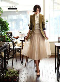 """Юбка из фатина """"Елизавета"""" - бежевый,однотонный,юбка из фатина,юбка-пачка"""