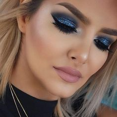 glittery eye makeup idea More