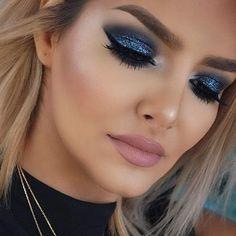 glittery eye makeup idea More