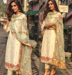 Diwali Fashion, Indian Fashion, Indian Look, Indian Wear, Pakistani Outfits, Indian Outfits, Formal Suits For Women, Simple Bridal Dresses, Asian Clothes
