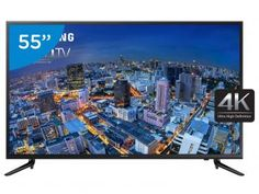 "Smart TV LED 55"" Samsung 4K/Ultra HD Gamer - UN55JU6000GXZD Conversor Digital Wi-Fi 3 HDMI"