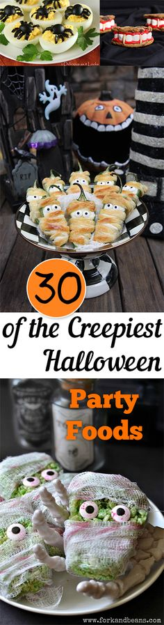 30 of the Creepiest Halloween Party Foods. Fall, fall decor ideas, Halloween, Halloween decor, autumn, DIY fall decor.