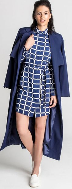 #Hepburn navy duster lined full length #trenchcoat.   Outer - 100% Viscose   Lining - 100% Polyester   Machine wash cold