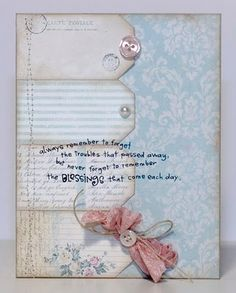 Card with tag border... great way to use up scraps ... and would work for any occasion!