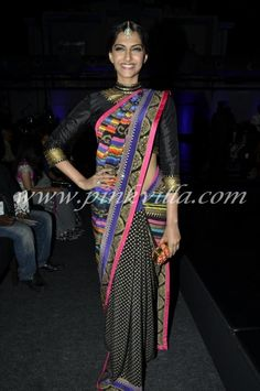 Sonam Kapoor at the Manish Arora show at the grand finale of the WIFW AW'13