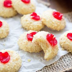 These Cherry Cream Cheese Cookies are one of my family's favorite Christmas cookies! We've been making these festive, melt-in-your mouth cookies for as long as I can remember.