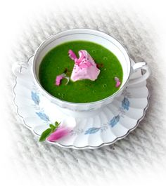 fleurs gourmandes • edible flowers - Sheepish Soup with Tulip Petal Cream • In the Kitchen