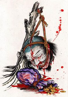 Blood Money by Clark North Tribal Tattoo Artwork Giclee Art Print