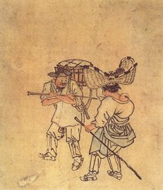 (Korea) Peddler by Kim Hong-do aka Danwon. ca century CE. during the Joseon Kingdom, Kim Hong-do is one of the most famous artists in Korean history and is known for his depictions of daily life. Korean Painting, Chinese Painting, Chinese Art, Korean Art, Asian Art, Traditional Paintings, Traditional Art, Most Famous Artists, Conceptual Art