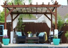 The pergola you choose will probably set the tone for your outdoor living space, so you will want to choose a pergola that matches your personal style as closely as possible. The style and design of your PerGola are based on personal Building A Pergola, Pergola Plans, Diy Pergola, Gazebo, Pergola Ideas, Pergola Kits, Pergola Cover, Wood Pergola, Garage Pergola