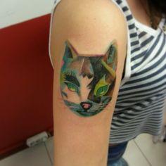 Tattoo # cat#color
