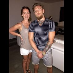 Conor McGregor w/ girlfriend Dee Devlin : if you love #MMA, you'll love the #UFC & #MixedMartialArts inspired fashion at CageCult: http://cagecult.com/mma