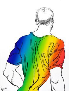 Vyse - Man on Line, Rainbow (manipulated)