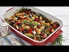 Legume la cuptor cu ierburi aromatice (CC Eng Sub) Yami Yami, Tasty, Yummy Food, Kung Pao Chicken, Ratatouille, Pasta Salad, Zucchini, Food And Drink, Vegetables