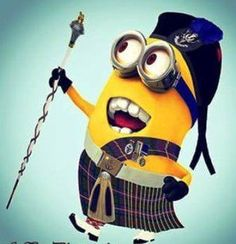 Little Scottish minion Basel, Minions Friends, Scottish Highland Dance, Clan Buchanan, Special Characters, Disney Characters, Funny Minion Pictures, Scottish Culture, Minion Crochet