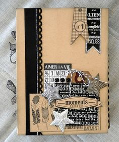 28 ideas design book cover notebooks bookbinding for 2019 Scrapbooking Technique, Album Photo Scrapbooking, Mini Albums Scrapbook, Scrapbook Cover, Scrapbook Cards, Book Cover Design, Book Design, Tutorial Scrapbook, Altered Composition Notebooks