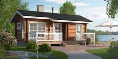 Sauna cottage Koivula 25 Kerrosala: 25 m2 Kerrosten lukumäärä: 1 Hinta: Alk. 13850 € Hinnat sisältävät ALV 24%, Saunassa iso ikkuna!