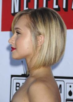 Short Bob Hairstyles Front Back photo: hayden-panettiere-netflix. This is the length of my hair. Needed something different but I already miss my long hair. Sleek Hairstyles, 2015 Hairstyles, Short Hairstyles For Women, Pretty Hairstyles, Stacked Hairstyles, Curly Hairstyles, Double Chin Hairstyles, Black Hairstyle, Celebrity Hairstyles