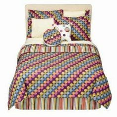 """Bacati - Dots & Stripes Spice Twin Comforter set by Bacati. $79.99. Features Appliquéd Design, Embroidered Details. Includes Comforter, Sham. Chocolate brown with bright dots on one side and cordinating stripes on the other side. Dots & Stripes Spice Twin Comforter set. 100% cotton percale fabrics. 100% Cotton, Machine Wash Cold with Like Colors. """"Add a Splash of Color to Your Room with this 2 pc. Comforter Set  Includes Comforter, Sham  100% Cotton, Machine Wash ..."""