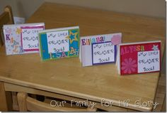 Individual children prayer books. The kids can help make them and the book helps them to remember to P.R.A.Y! What a great idea. Easy to make, just need lots of pictures