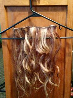 Easy cheap diy hair extension holder cover a foam board in a diy holder for your hair extensions clip your extensions on the the rubber band for pmusecretfo Images