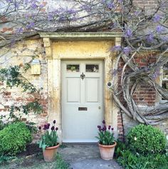 Charming front door to an old English country house covered with climbing vines. The Beach Studios & Locations. English Cottage Style, Cottage Style Decor, English House, French Cottage, French Country Style, Cozy Cottage, Country Front Door, Cottage Front Doors, House Front Door