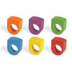 指にはめてお絵かきができる! Crayon Rings set of 6 【クレヨンリング】