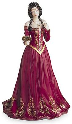 Medieval Princess Figurine - Royal Worcester, Fine Bone China