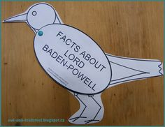 Owl & Toadstool: Lord Baden-Powell Facts Robin Activity