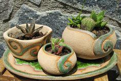 blog de artesania caracolyperejil: Más macetas para cactus, crasas ...