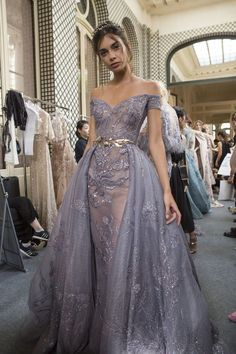 Zuhair Murad Fall 2017 Couture Fashion Show Backstage Evening Dresses, Prom Dresses, Formal Dresses, Wedding Dresses, Bridal Gowns, Robes Glamour, Style Haute Couture, Haute Couture Gowns, Couture Dresses
