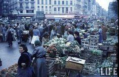 Très jolie série d'images de Thomas McAvoy à propos du quartier des Halles de Paris en 1956