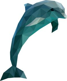 """Low Poly Dolphin"" Stickers by DigitalShards 
