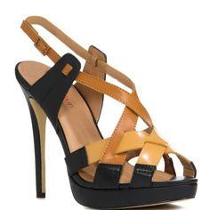 Amazon.com: JustFab Vaasa - Black/Tan: JustFab: Shoes