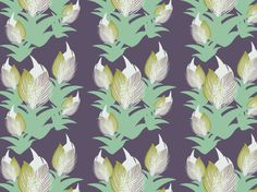 GRAY RIDGE TULIPS by clairyfairy. Bedding in organic cottons. Cushions in linens. Upholstery in heavy duty twill.