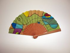Handpainted Silk hand fan-Wedding hand fan-Giveaways-Bridesmaids-Gift for woman-Mom-Wife-Her-Girlfriend-Leather case-Ready to be shipped de gilbea en Etsy Gifts For Women, Gifts For Her, Hand Fans For Wedding, Hand Painted, Painted Silk, Fabric Painting, Leather Case, Bridesmaid Gifts, Etsy Seller
