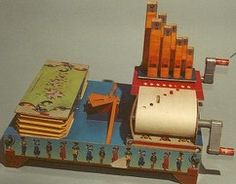 Paper Forest is an excellent blog devoted to papercraft models and automata. Shown here, a working paper pipe organ that reads piano-roll-style punch-tapes. Link (Thanks, Jaime!)